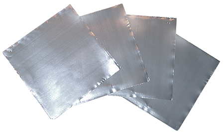 Tin Foil Squares Standard Weight 22 x 22mm pack of 100